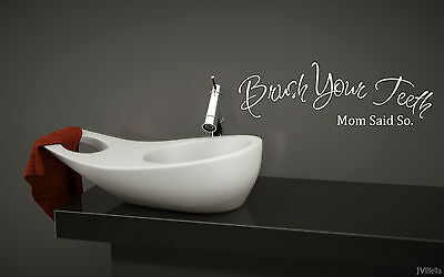 Brush Your Teeth bathroom wall quote art vinyl decal sticker Removable