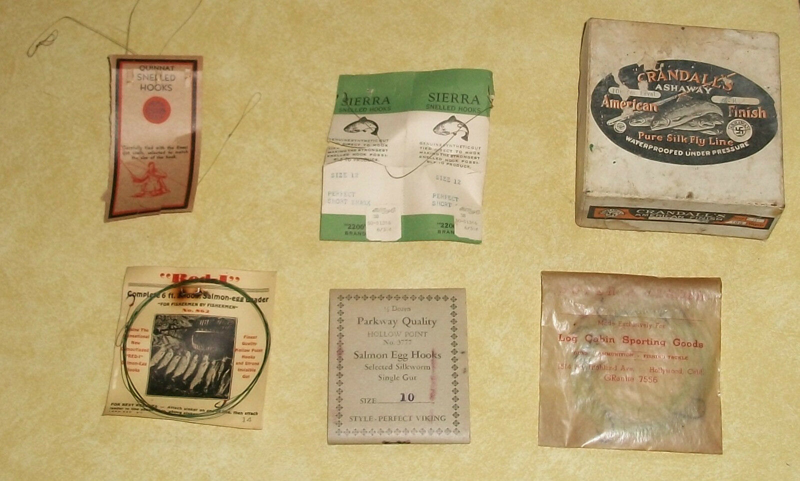 SUPER RARE FLY pesca TACKLE LINE OLD PAPER ANGLER ANGLING GEAR ASHAWAY rossoI