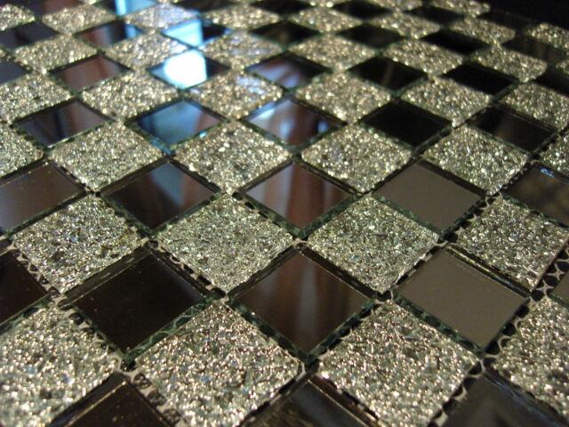 1 Matte  Glasmosaik Mosaik Fliesen Klarglas spiegel nm02 klarglas spiegelmosaik
