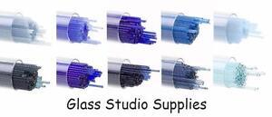 Tube-of-20-Mixed-Blues-Bullseye-90coe-1mm-Kiln-Fusing-Glass-Stringers