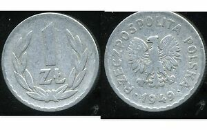 POLOGNE  1 zloty  1949  ( bis )