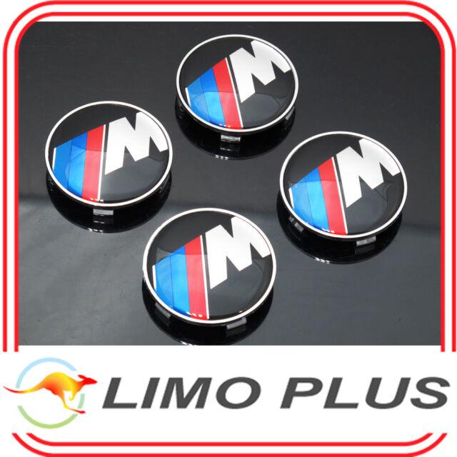 4x 68mm M Wheel Center Caps for BMW X1 X3 X5 X6 M3 M5 M6 X5M X6M M Series t109