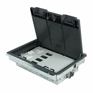 Floor box compartment 1 twin double socket 1 4 data 1 for 1 compartment floor box