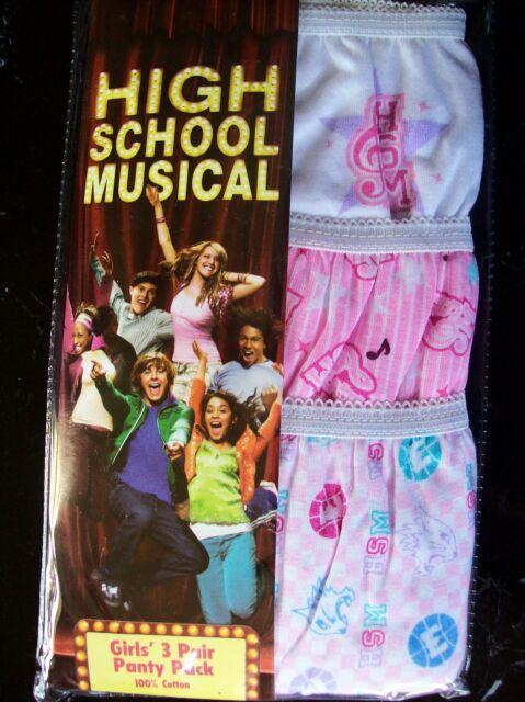 High School Musical Disney Girls Underwear Underpants 3 Pair Panty Pack Sz 8 Nip