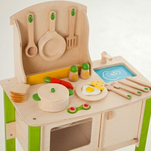 Educo wooden Kitchen Pretend Play kids pre school Play Food 2 DAY FREE SHIP NEW