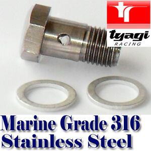 STAINLESS-STEEL-BANJO-BOLT-FOR-FUEL-BRAKE-LINE-MOTORCYCLE-BOAT-CAR-m14-m12-m10