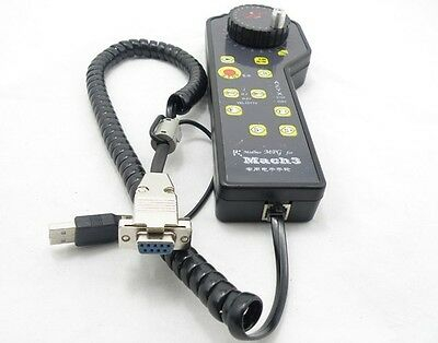 New USB RS232 MACH3 CNC Electronic Hand Wheel For CNC ModsMach3 Machines Only