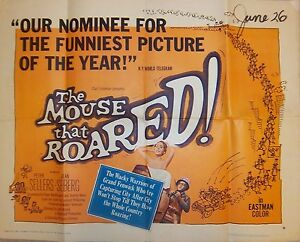 VINTAGE-MOVIE-1-2-SHT-POSTER-THE-MOUSE-THAT-ROARED-1959-Original