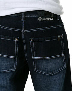 SOUTHPOLE-4180-1043-Mens-Relaxed-Fit-Jeans-NWT-Dark-Sand-Blue-gt-select-your-size