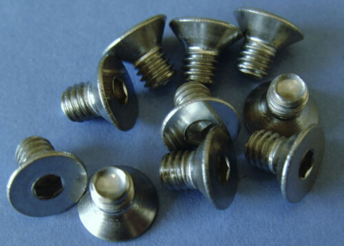 M4 x 6 mm CSK C//S A2 STAINLESS STEEL COUNTERSUNK HEAD SCREWS HEXAGON HEX SOCKET
