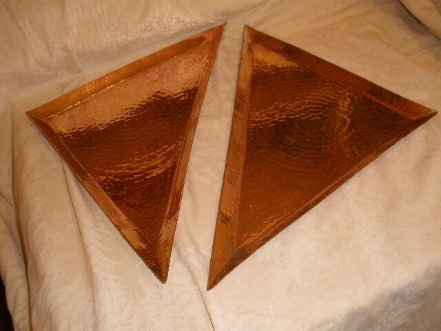 Sertodo cuivre martelé Set de cuivre 2 Triangle de plateaux plateaux NOUVEAU Eco Friendly