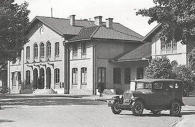 Kristinehamn Railway Station Car Varmland Sweden 30s
