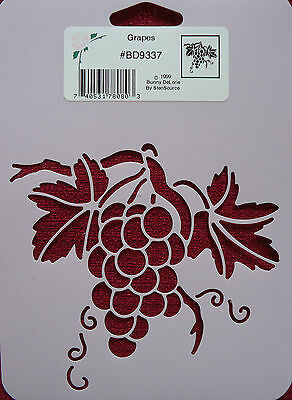 Stencil Grapes Fruit leaves branch food home decor StenSource Zentangle BD9337