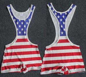 Custom-Picture-American-flag-Low-Cut-Wrestling-Singlet-body-building