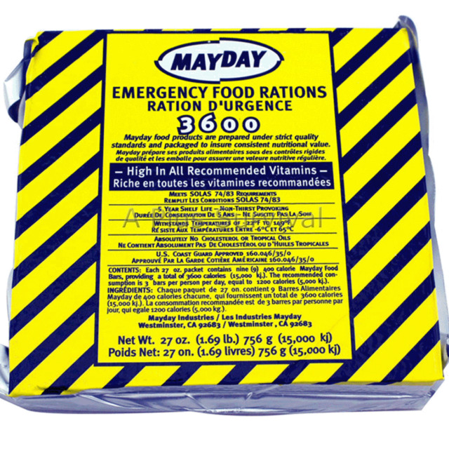 9 Meals 3 Day 3600 Calorie Emergency MRE Survival Food Bar Ration Car Kit BugOut