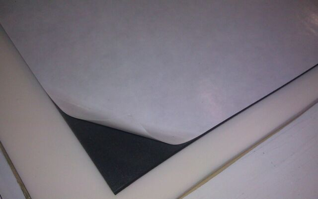 "Rubber-Neoprene sponge pad/mat/sheet/strip 1/4""14""x14""self-adhesive, closed cell"