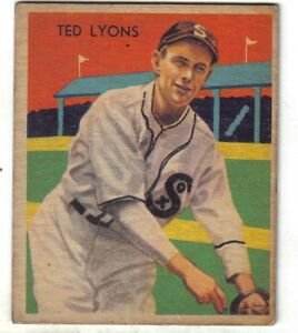 Details About 1935 Diamond Stars Baseball Card 43 Ted Lyons Chicago White Sox Vg