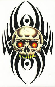 TRIBAL-SKULL-Extra-large-Awesome-Temporary-Tattoo