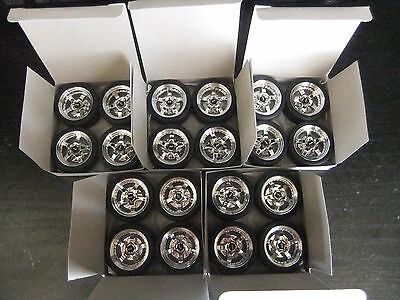 1/18 SCALE  5 SETS OF MODIFIED RDM WHEELS