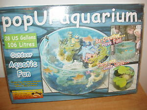 Pop up aquarium outdoor use ebay for Pop up aquarium