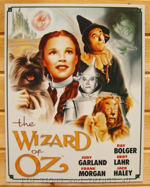 The Wizard of Oz Illustrated Poster TIN SIGN cast movie metal wall decor ad 1563