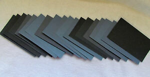 "Sandpaper Wet Dry 3"" X 5 1/2"" Sheets 220 thru 1500 grit you pick 36 Pc."