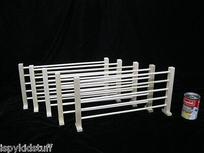 "Qty 6 of 8 1/2"" TALL Split Rail Fence Wood Toy Fence Corral Large Horse Animals"