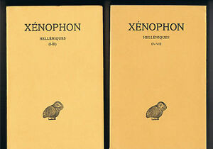 XENOPHON-HELLENISTIQUES-I-III-IV-VII-TOME-I-et-II-LES-BELLES-LETTRES