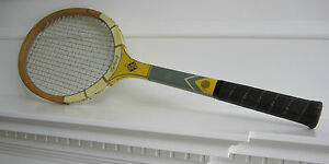 "Sportcraft Wood Vintage Tennis Racquet 4 5/8"" Wooden 5-Ply Frame Beautiful"