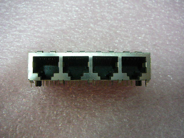 High Performance RJ45 1X4 Jack Shielded with Tabs 8 Contacts 4 Ports  **NEW**