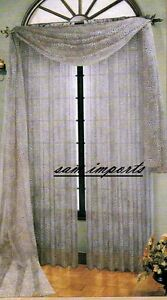 3pcs-1-scarf-w-2-sheer-leopard-print-Voile-Window-Panel-Brand-New-curtains