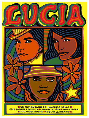 Lucia Cuban vintage Movie POSTER.Graphic Design. Wall Art Decoration.3503