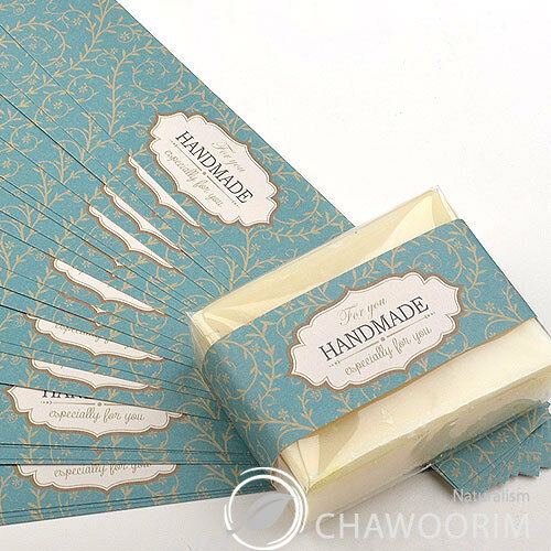 Antic Turquoise Ivy  Handmade Deco Label For Soap,Baking,Candle, Multi Purpose