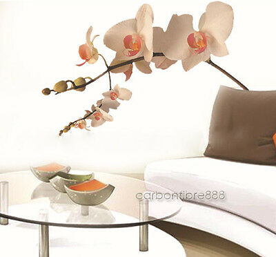 LARGE Creamy Orchid Flowers Tree Wall Stickers PVC Decal Art Mural Decor Paper