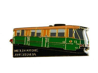 Australian Souvenir Enamel Australia Melbourne Tram Hat Pin Lapel Badge