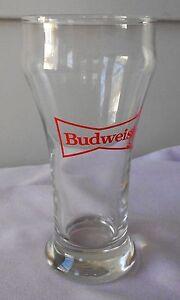 Libbey-Glass-BUDWEISER-Pilsner-Glass-Bowtie-Logo-BUD-Anheuser-Busch