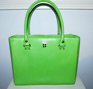 Kate-Spade-Quinn-Wellesley-green-leather-purse-handbag-tote-shopper-bag