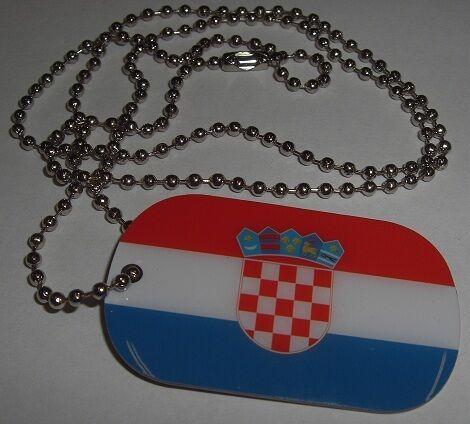 DOG TAG Kroatien Erkennungsmarke Hundemarke Kette Fahne Flagge 30x50 Anhänger