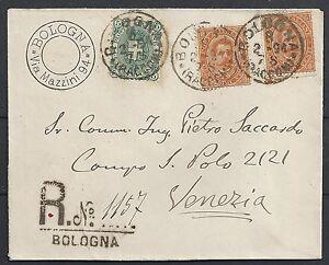 Italy 1878 R-cover Bologna to Venezia