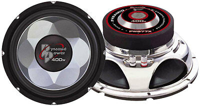 """Single 8"""" inch 4 ohm Chrome Car Audio Stereo Poly Woofer Subwoofer Bass Speaker"""