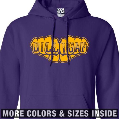 DILLIGAF Fists HOODIE Hooded Knuckle Tattoo Biker Sweatshirt  All Sizes /& Colors