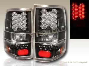 2004 2005 2006 2007 2008 ford f 150 led black tail lights styleside. Black Bedroom Furniture Sets. Home Design Ideas