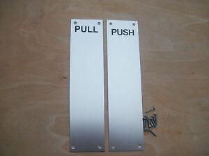 12 Quot Push Pull Saa Metal Finger Plate Door Push Pull Plates