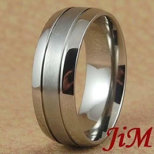 8MM Titanium Wedding Band Ring Brushed Bridal Jewelry For Men Or Women Size 6-13