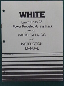 1978 WHITE LAWN BOSS 22 POWER PROPELLED GRASS PACK 990 142 PARTS MANUAL 432 730
