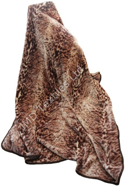 Faux fur throws Choice of colours and sizes soft warm mink blanket sofa throw