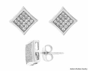 Unisex-Kite-Star-CZ-stud-earrings-925-white-fashion