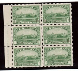 Canada #215 VF/NH Plate #1 LL Block Of Six