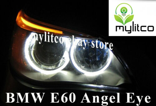 4x BMW 5 Series E60 E61 PRE LCI ANGEL EYE HALO RING LIGHT WHITE LED CANBUS BULBS
