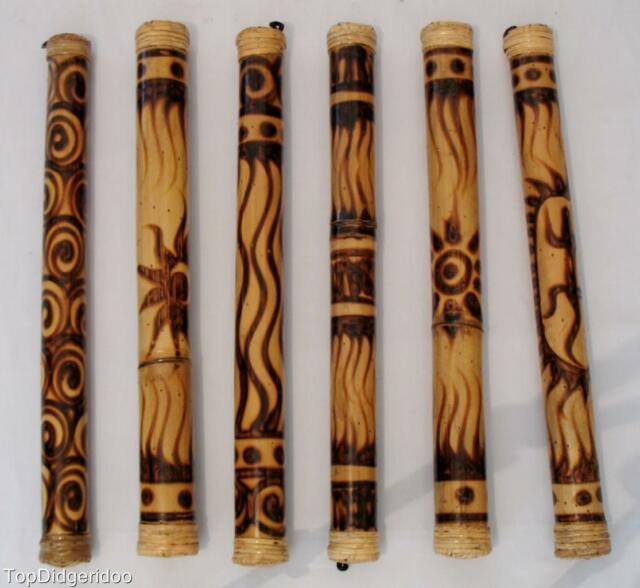 "23""\60cm Authentic Bamboo Rain Stick Shaker Traditional Roasted Burns Rain maker"